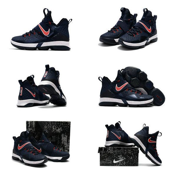 a1eba96457c70 New LeBron James Shoes 2017 Lebron James Shoes LeBron 14 XIV Midnight Navy  Sport Red