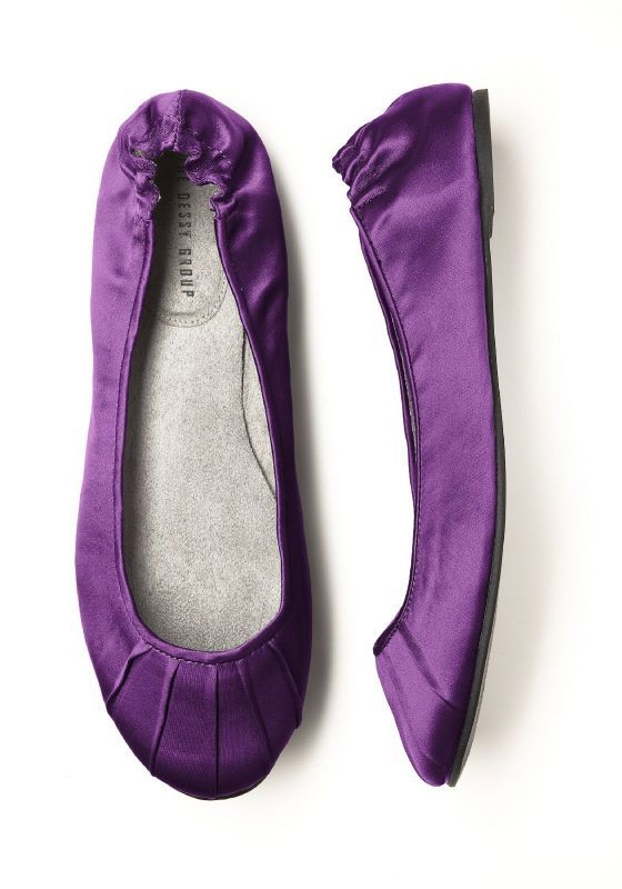 Purple Wedding Flats- great gift for bridesmaids or for dancing when your feet get tired