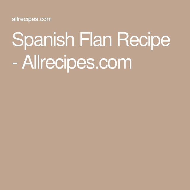 Spanish Flan Recipe - Allrecipes.com