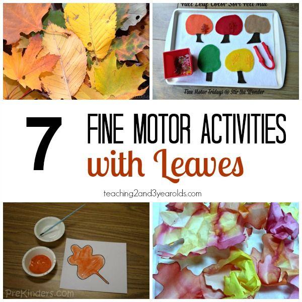 Fall Fine Motor Activities For Preschoolers Childcare