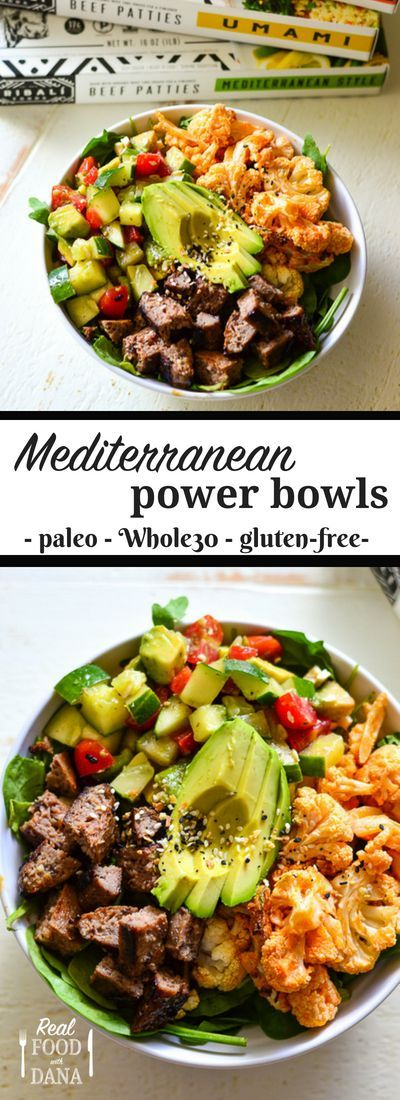 Mediterranean Power Bowls ~ Paleo ~ Whole30 ~ Gluten Free | Real Food With Dana