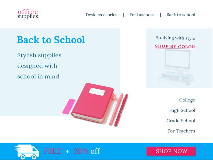 Category Page for Office Supplies Store by Madalina Taina