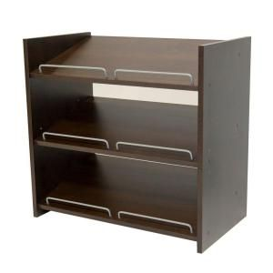 Martha Stewart Living Stackable 24 x 24 in. Espresso Shoe Storage-DS1 at The Home Depot