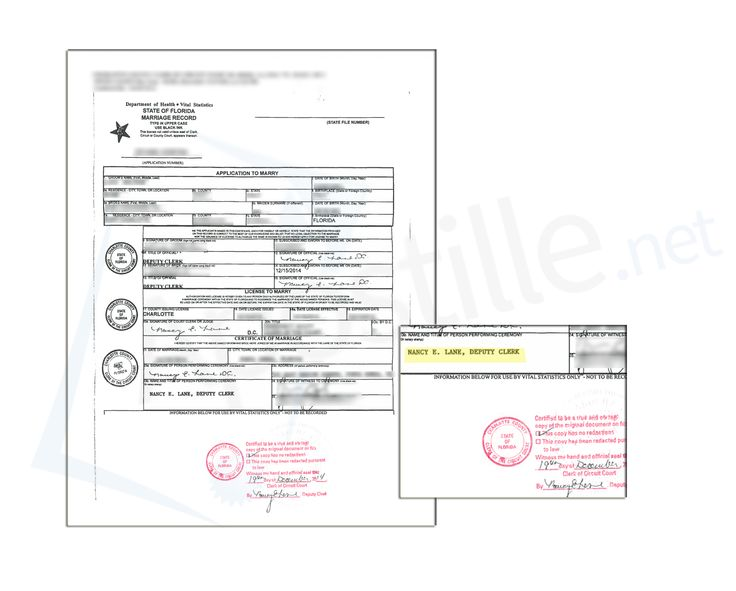 State of Florida Certificate of Marriage signed by Jennifer A - judicial council form complaint