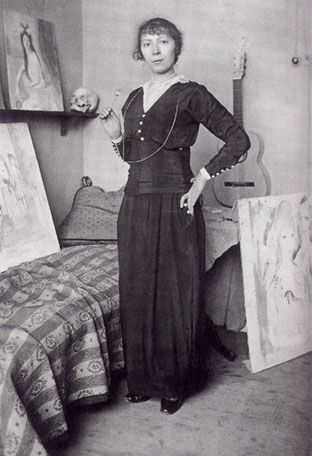 Marie Laurencin (October 31, 1885–June 8, 1956) was a French painter and printmaker.  During the early years of the 20th century, Laurencin was an important figure in the Parisian avant-garde and a member of the circle of Pablo Picasso.