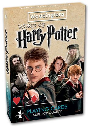 This brand new pack of Waddingtons playing cards features all your favourite characters from the series, including Dumbledore, Malfoy, Sirius Black, Hermione, Mr Weasley, Harry Potter and many more!