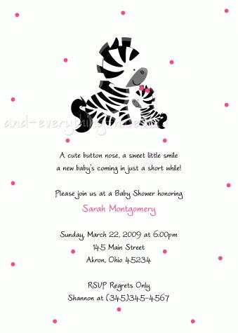 best 25+ zebra baby showers ideas on pinterest   pink zebra, Birthday invitations
