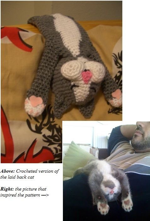 Laid Back Cat Amigurumi : Laid-Back Cat Amigurumi pattern by Pam Grennes Coloring ...