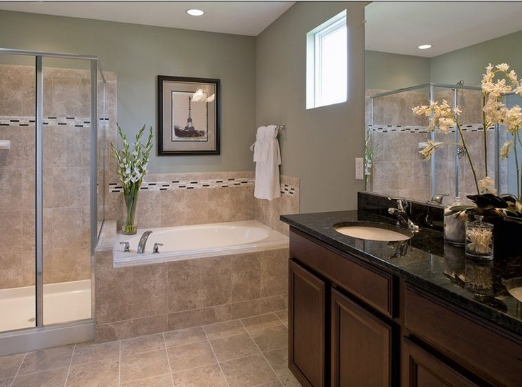 relax in this gorgeous bathroom in the stafford lakes village community from centex