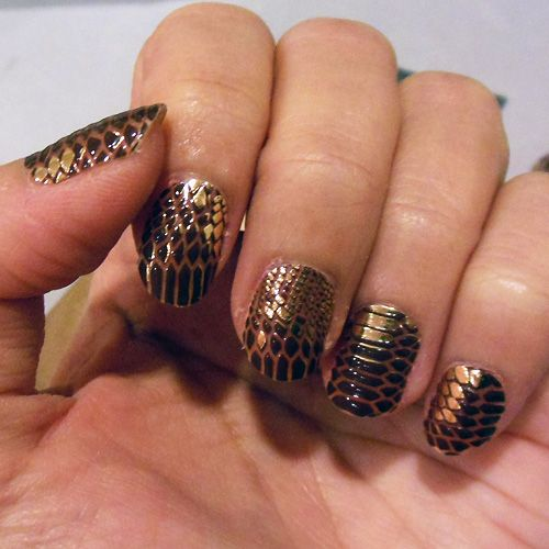 45 best nails i luv using stickers images on pinterest nail loreal color riche le nail art trial and review using 006 python product claims these are the typical stick on nail strips that loreal claims will prinsesfo Gallery