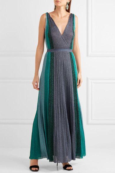 Missoni | Metallic stretch-knit gown | NET-A-PORTER.COM