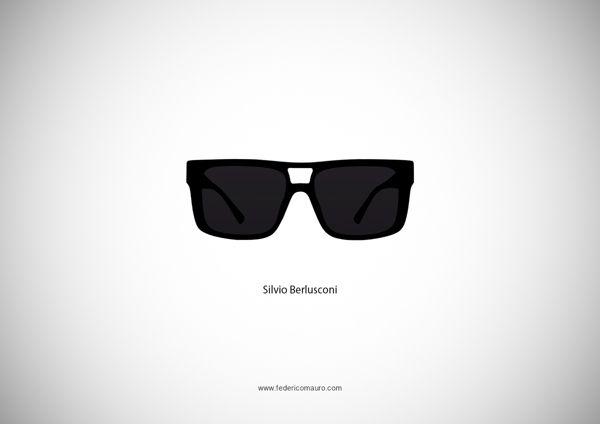 Silvio Berlusconi - Famous Eyeglasses by Federico Mauro, via Behance