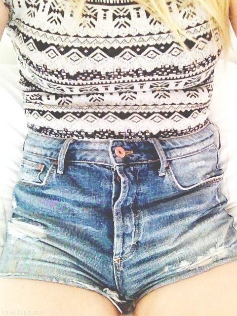 Denim Shorts fashion style denim high waisted shorts