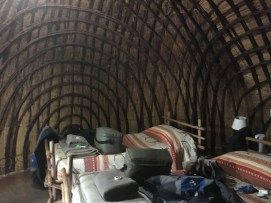 Inside our Beehive Hut at Milwane, Swaziland,