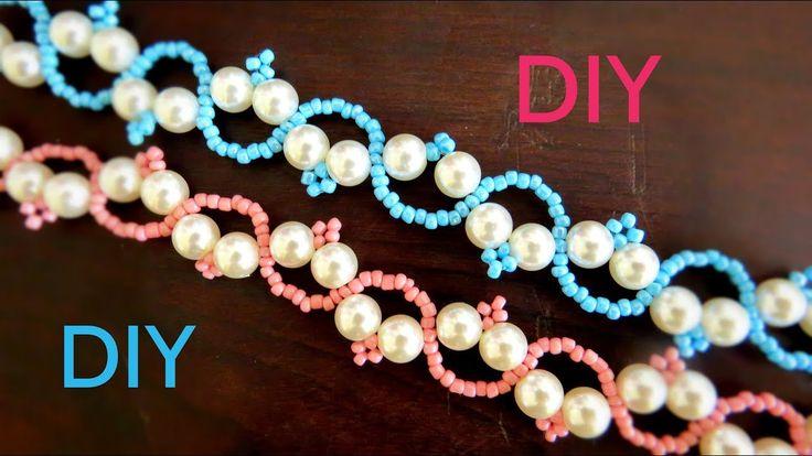 Bracelete de Pérolas e Miçanga - Diy Bijuterias
