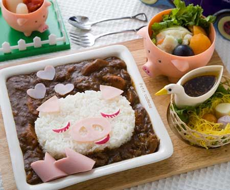curry pig in Love - weekend lunch get tired ♪ play with curry