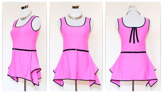 Pretty in Pink // Tank Dress - Canottiera - Dress - Tank Top - Mini Dress - Elasticizzato - Fuxia - Alternative Rock Glam Punk Steampunk