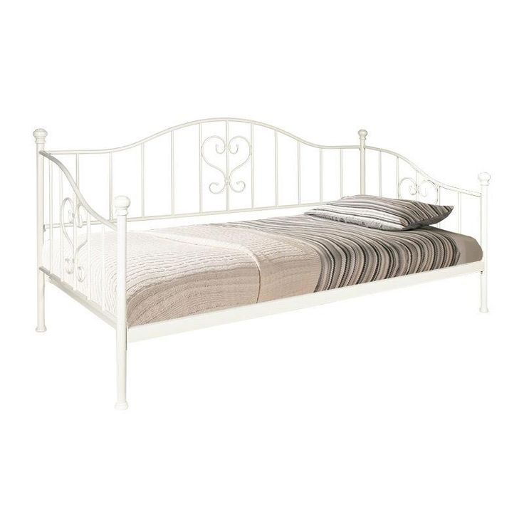 IRON SINGLE BED IN WHITE COLOR 91x192x96 (90x190) - Beds - FURNITURE - inart