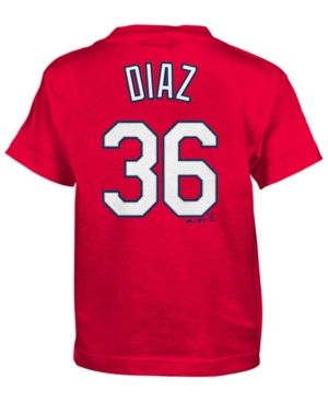 Majestic Kids' Aledmys Diaz St. Louis Cardinals Official Player T-Shirt - Red 4