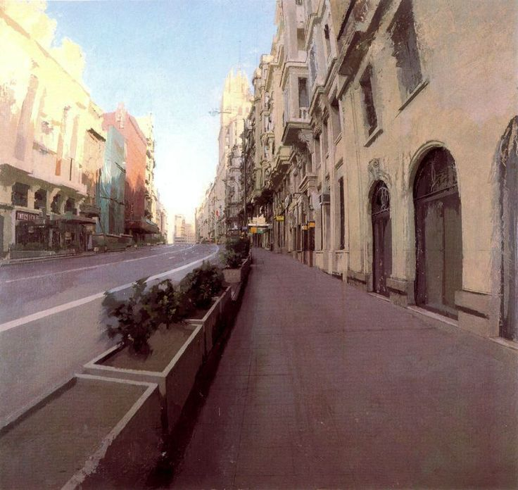 Gran Via, Clavel. 1977. Obra de Antonio López García