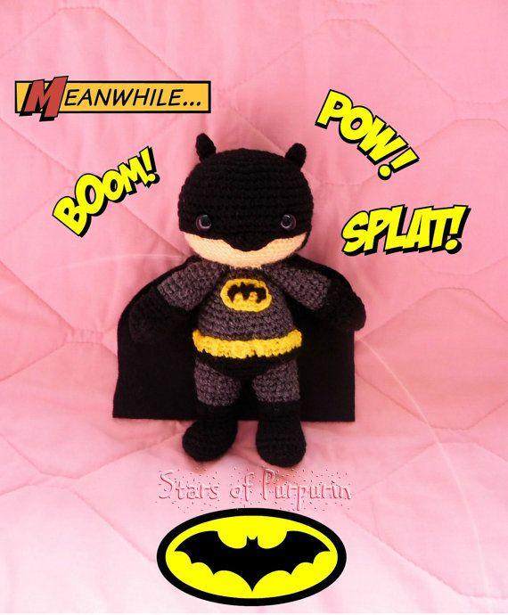 Batman  Superhéroe DC Comics  Muñeco Amigurumi por StarsOfPurpurin
