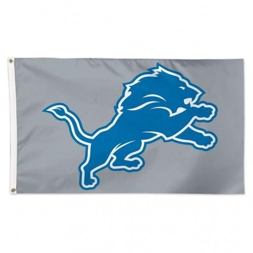NFL Detroit Lions Gray 3' x 5' Deluxe Flag