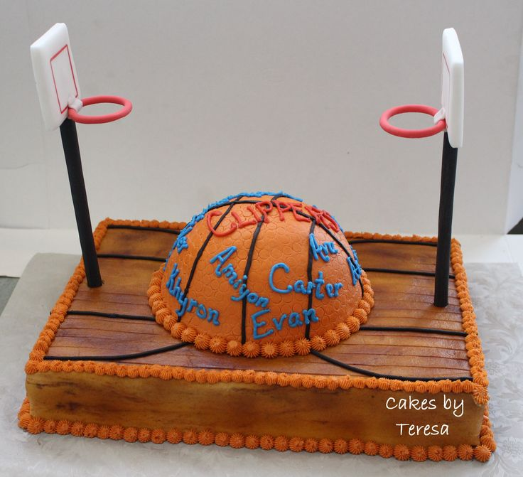 Basketball Court Cake Images : Basketball court cake. Chocolate base cake covered in ...
