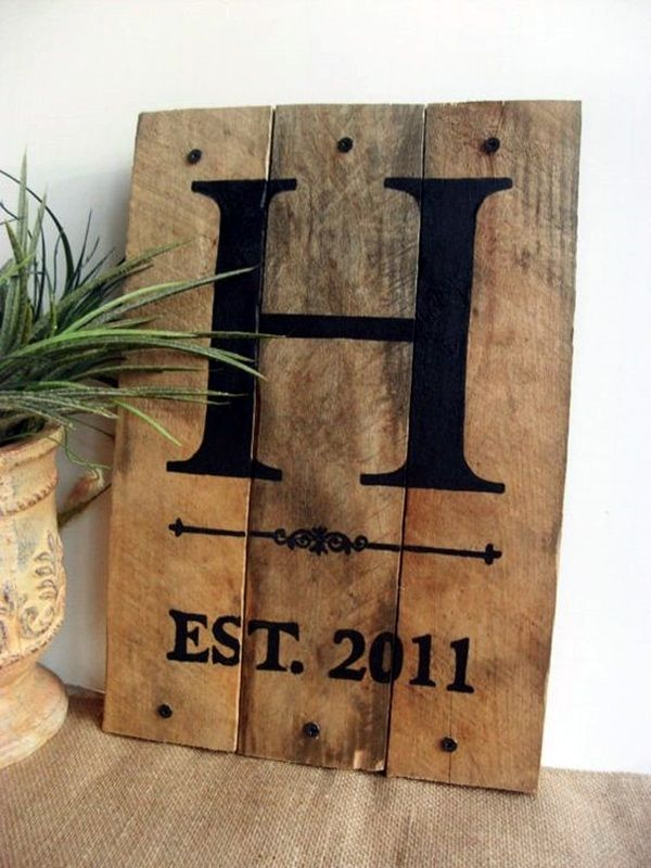 Creative Monogram Wall Art Ideas (13)