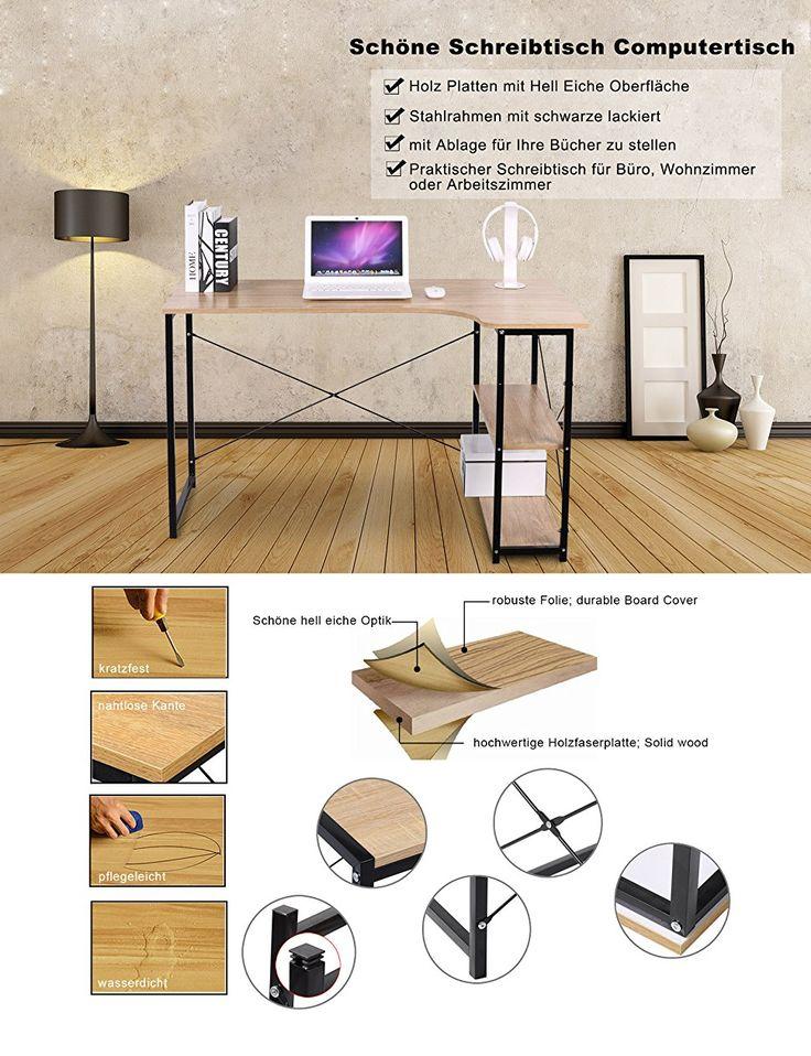 WOLTU TSB06hei Schreibtisch Computertisch Büromöbel PC Tisch - schöne bilder fürs wohnzimmer