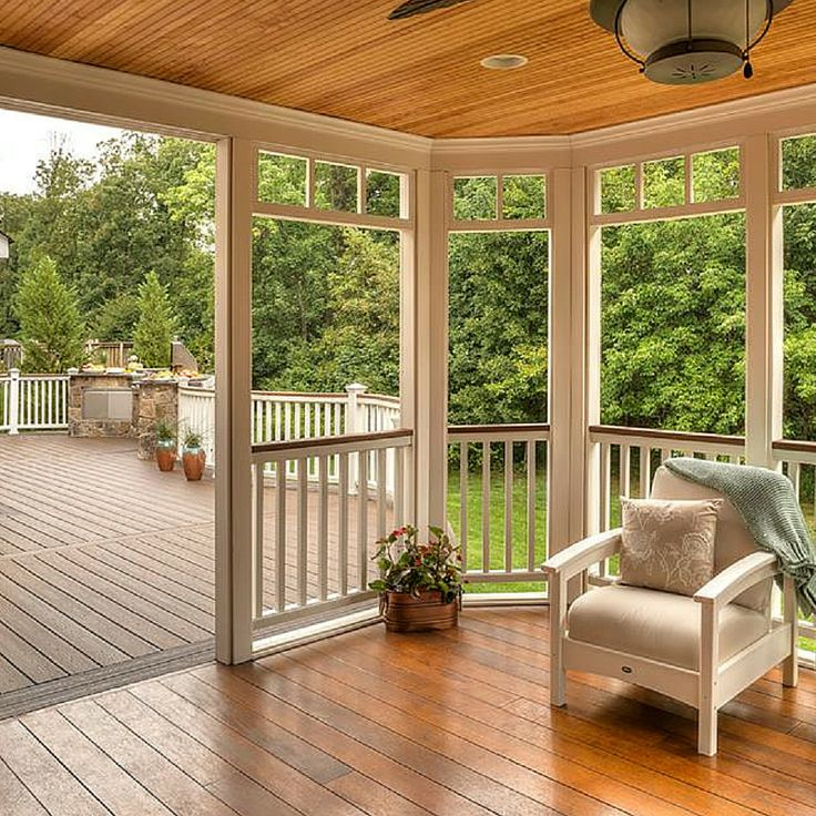 Porch Vs Deck Which Is The More Befitting For Your Home: 125 Best Images About Screened-in Deck And Patio Ideas On