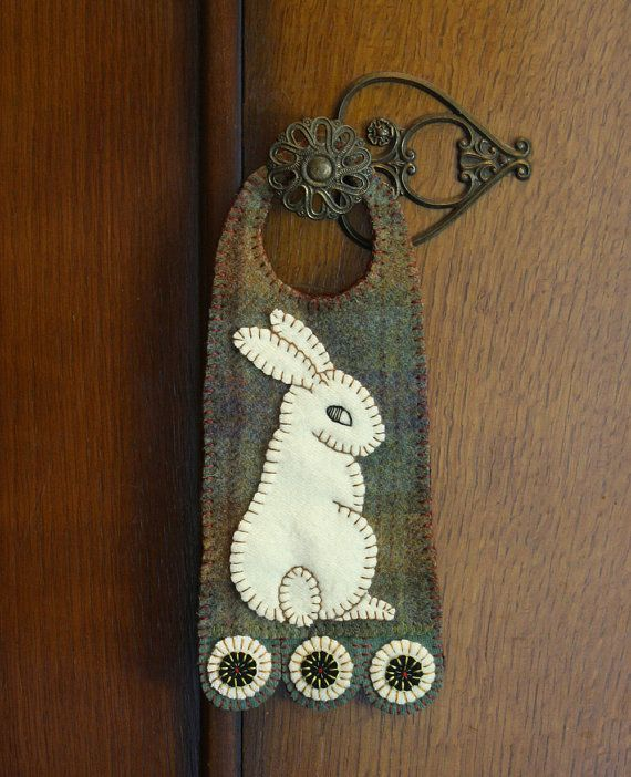 Felted Wool Penny Door Hanger by dashton4 on Etsy, $14.99