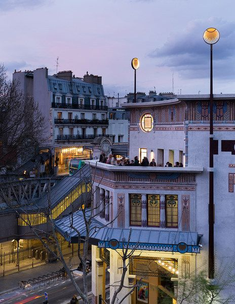 The Louxor Cinema in Paris by the architect Henri Zipcy in 1921. Reopened in 2008 with the architect Philippe Pumain.