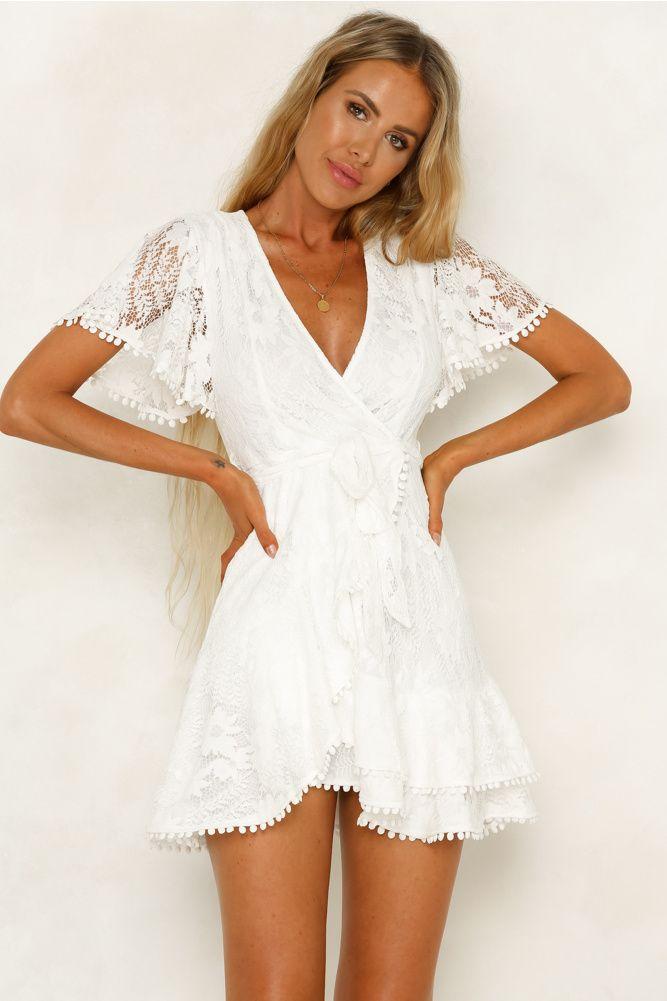Darling Days Dress White White Short Dress Lace White Dress White Dresses Graduation