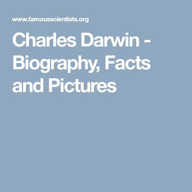 Charles Darwin - Biography, Facts and Pictures