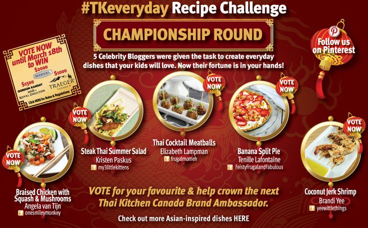 Cast your vote & you could win big in the Thai Kitchen #TKeveryday Recipe Challenge via Contest Patti