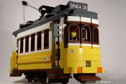 Lisbon Tram 28: A LEGO® creation by nuno 2500 : MOCpages.com