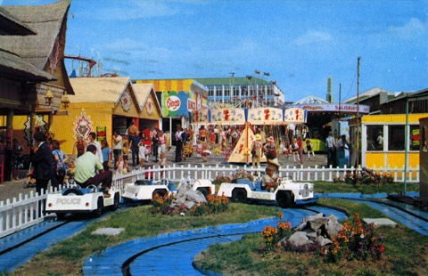 This postcard from the late 1970s is a general view of Barry Island Pleasure Park with the Jungle Ride entrance visible to the left. Photo: Nick Laister Collection