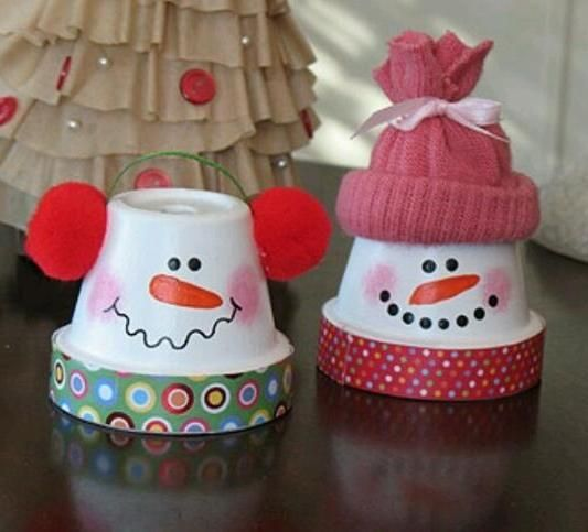 Nice DIY Snowmen from Terra Cotta Pots | Homemade, Toddlers and Crafts ...