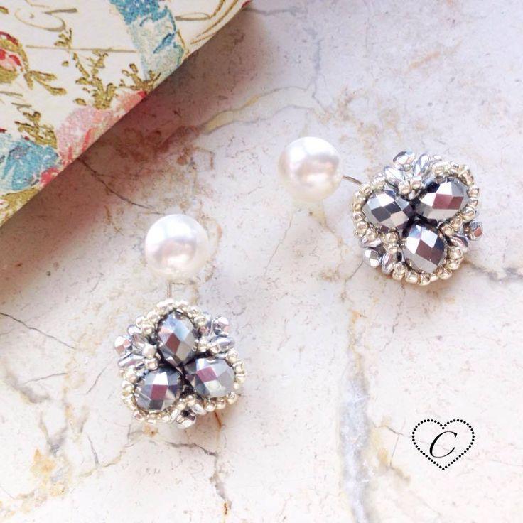 Orecchini DOPPI mod. CHERì #earrings #beaded #beads #handmade #madeinitaly #cherihandmade
