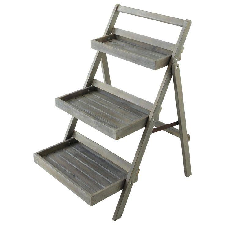 Grijs tuin-ladder-rek ETRETAT