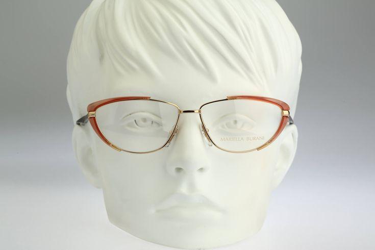 Mariella Burani 5053 / Vintage eyeglasses & sunglasses / NOS / 80s Rare and unique cat eye design by CarettaVintage on Etsy