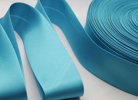 Satin Bias Binding - Turquoise