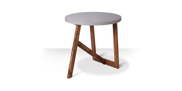 Swoon Editions Side table, Mid-century style in grey - £89