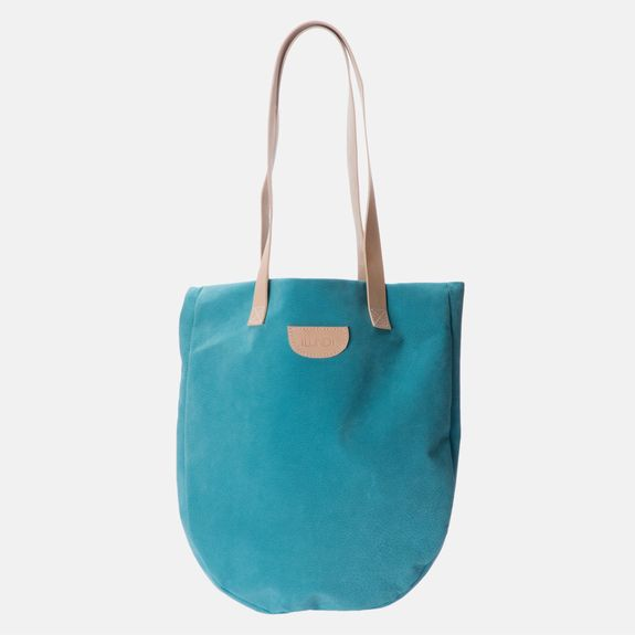 Ilundi - Suede Tote Bag – Blue
