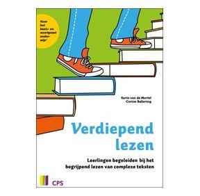 Leerlingen begeleiden bij het begrijpend lezen van complexe teksten. Meer informatie op  http://www.cps.nl/publicaties-uitgeverij/3023/taal-basisonderwijs/14976/verdiepend-lezen