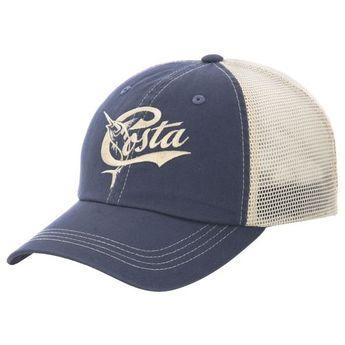 Costa Del Mar Adults  Retro Trucker Hat (Slate Blue Stone 3802328bd7ed