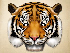Realistic Tiger Mask | Printable Animal Masks | The Printable Mask Shop