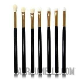 Brush Set Gold+ Black Wooden Handle Brush Set