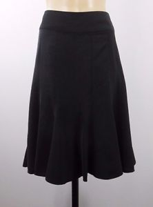 Size L 14 Jacqui E Ladies Skirt Black Chic Business Cocktail Office Gothic Style  | eBay