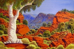"Albert Namatjira ""The golden stairs of fame"" -"